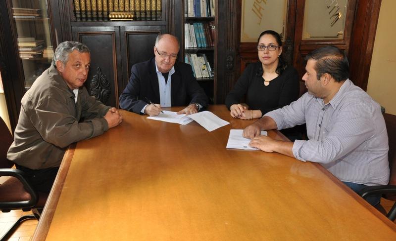 Da esq. para a dir.: Vicente, Gil, Sandra e José Airton