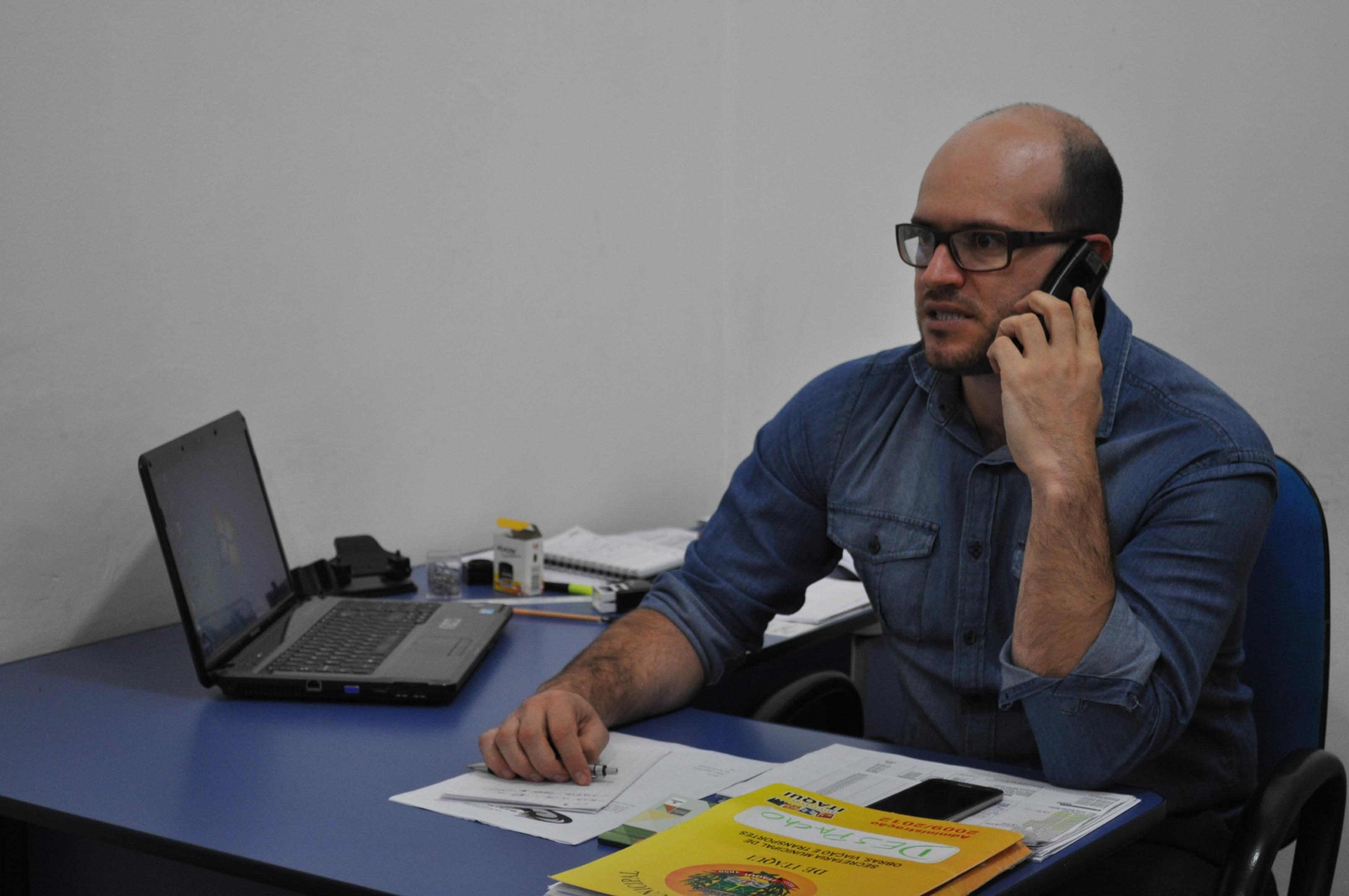 Secretário da Administração Fabiano Virgili cuida de 12 departamentos dentro da atual conjuntura do Executivo.