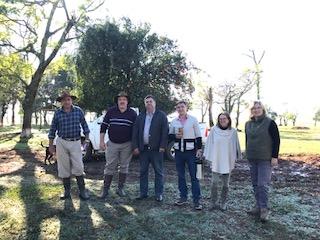 Comitiva da Secretaria de Esporte, Cultura e Lazer acompanharam o Vice-prefeito Marcio Palma
