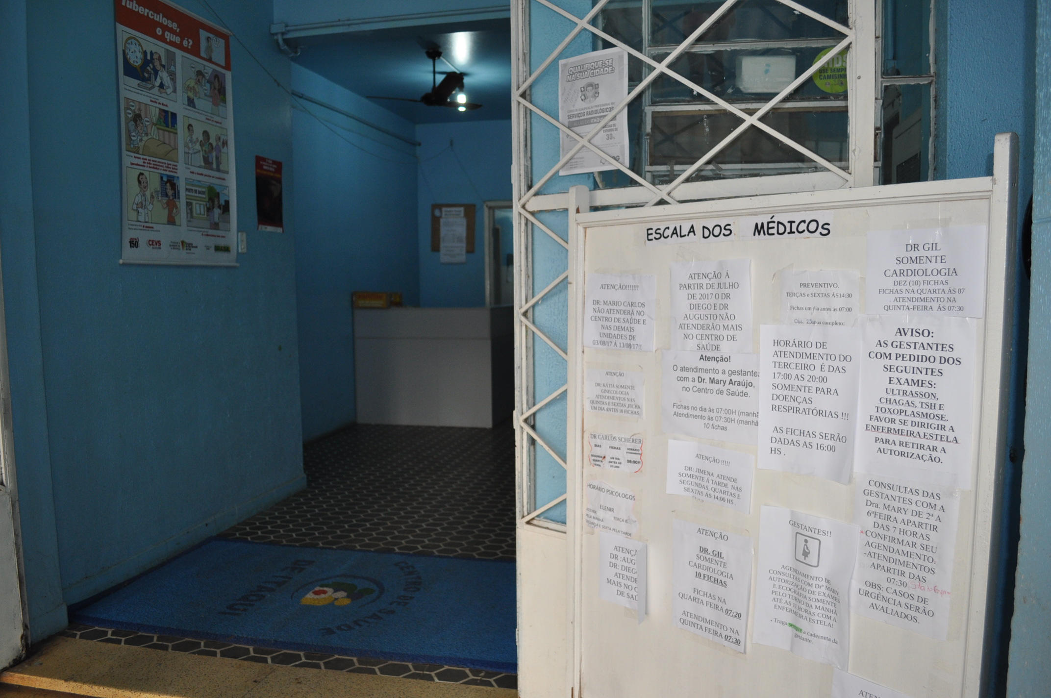 Centro de saúde reduziu as filas com o agendamento das consultas