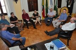 Da esq. para a dir.: Marcos, Olgair, Luçoir, Vitor José, Lira, Daltro, Volnei e Gil