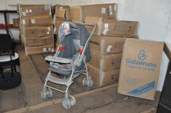 Foram adquiridos 50 carrinhos da marca Galzerano