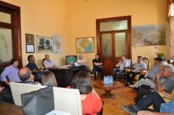 Reunião com lideranças do governo e o Deputado Frederico Antunes na manhã desta quinta-feira, 19, no gabinete do Prefeito.