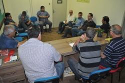 Vice-prefeito e Vereadores reunidos com demais Secretários