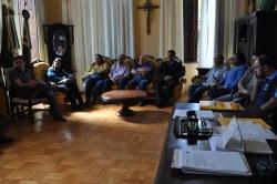 Vereadores e diretores das escolas estaduais em reunião no Gabinete do Prefeito