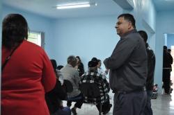 Vice-Prefeito acompanhando o atendimento ao público na sala de espera