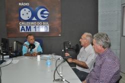 Prefeitoem entrevista na Rádio Cruzeiro do Sul