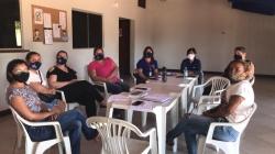 A reunião das coordenadoras dos serviços da rede socioassistencial do município