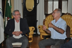 Presidente da Câmara de São Borja Eugênio Dutra com o Prefeito Jarbas Martini