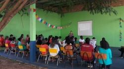 Uma das palestras com os pais dos alunos de educação infantil