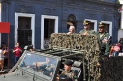 Prefeito realizou a vistoria juntamente com o Comandante e Sub-comandante do1º RC Mec
