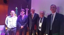 Da direita para esquerda: Embaixador Sergio Danese, Prefeito Jarbas, Secretário de Fronteiras da Argentina Luis Green e o Diretor de Assuntos Legais do CONICET.