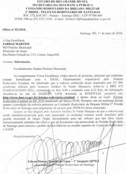 Documento da Secretaria da Segurança Pública do RS