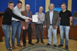 Assinatura da ordem de início da ETE em Itaqui