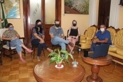 O prefeito e a secretária Elizéa colocaram o governo à disposição dos organizadores do ArBra