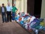 Secretaria de Esportes e Exattus arrecadam 380 peças de roupas para a Campanha do Agasalho