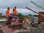 Defesa Civil atende vítimas de tormenta